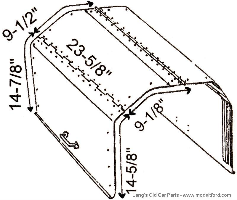 Hood for accessory model T Speedster body, NO.817