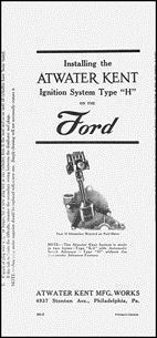 Model T Atwater Kent H instruction book, AK3
