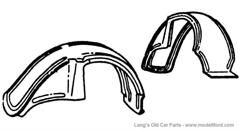 Model T Left Rear Fender, Sedan, Steel, NO261