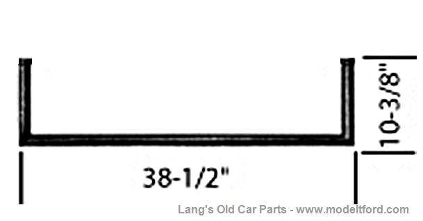 Model T Lower half of Windshield Frame only, WS-LHALF4