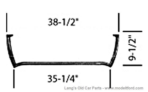 Model T Lower half of Windshield Frame only, WS-LHALF5