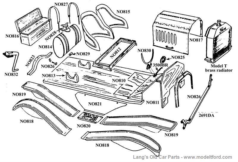 Model T Speedster Body Kit, (no fenders, hood), NO.805