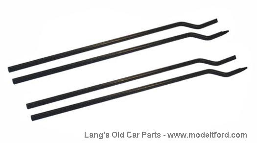 Model T Touring side curtain rods, set of 4, 7831ROD2
