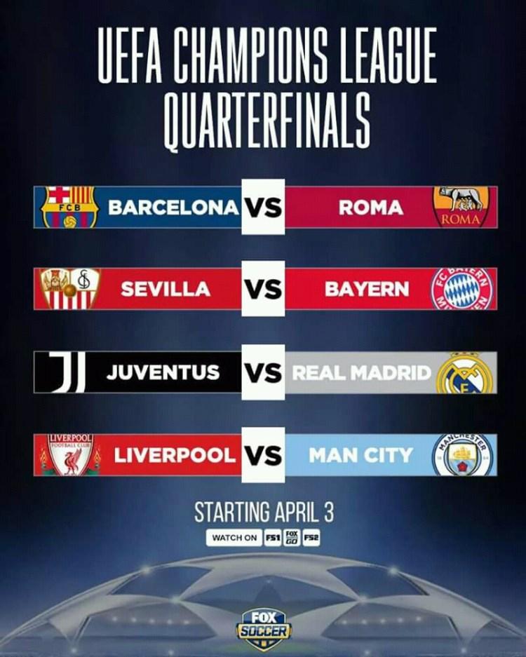 Uefa Champions League Quarter-Final's Draw, Who Makes It ...