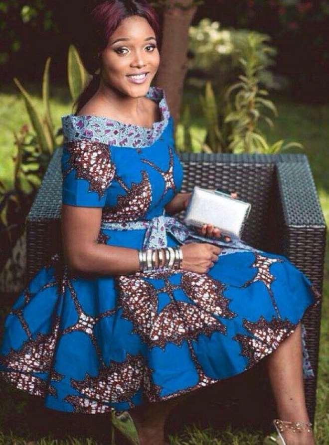 Blue Flattering Dress