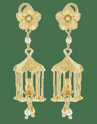 Of Rare Origin Bird Cage Earrings In Gold   ModeSens