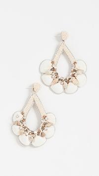 Deepa Gurnani Deepa By Meena Earrings In Ivory | ModeSens
