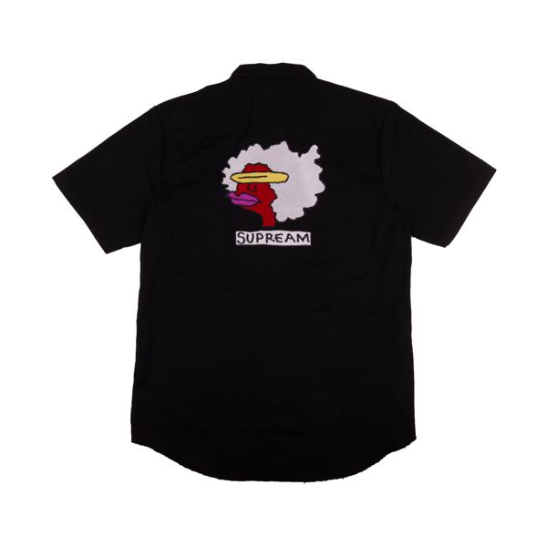 Pre-Owned Supreme Gonz Ramm Work Shirt Black   ModeSens