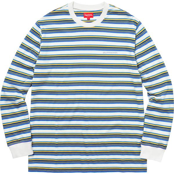 Pre-owned Supreme Multi Stripe L/s Top White   ModeSens