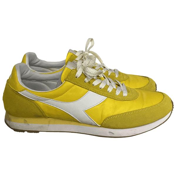 Pre-Owned Diadora Yellow Cloth Trainers   ModeSens