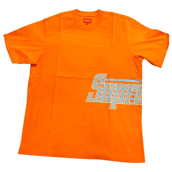 Pre-owned Supreme Orange Cotton T-shirts   ModeSens