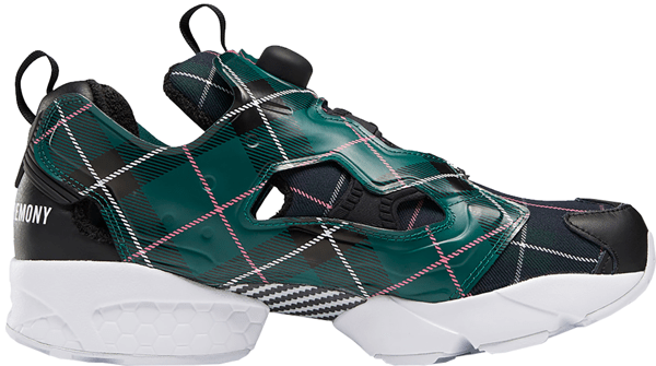 Pre-owned Reebok Instapump Fury Opening Ceremony Plaid Green In Green/blue-black   ModeSens