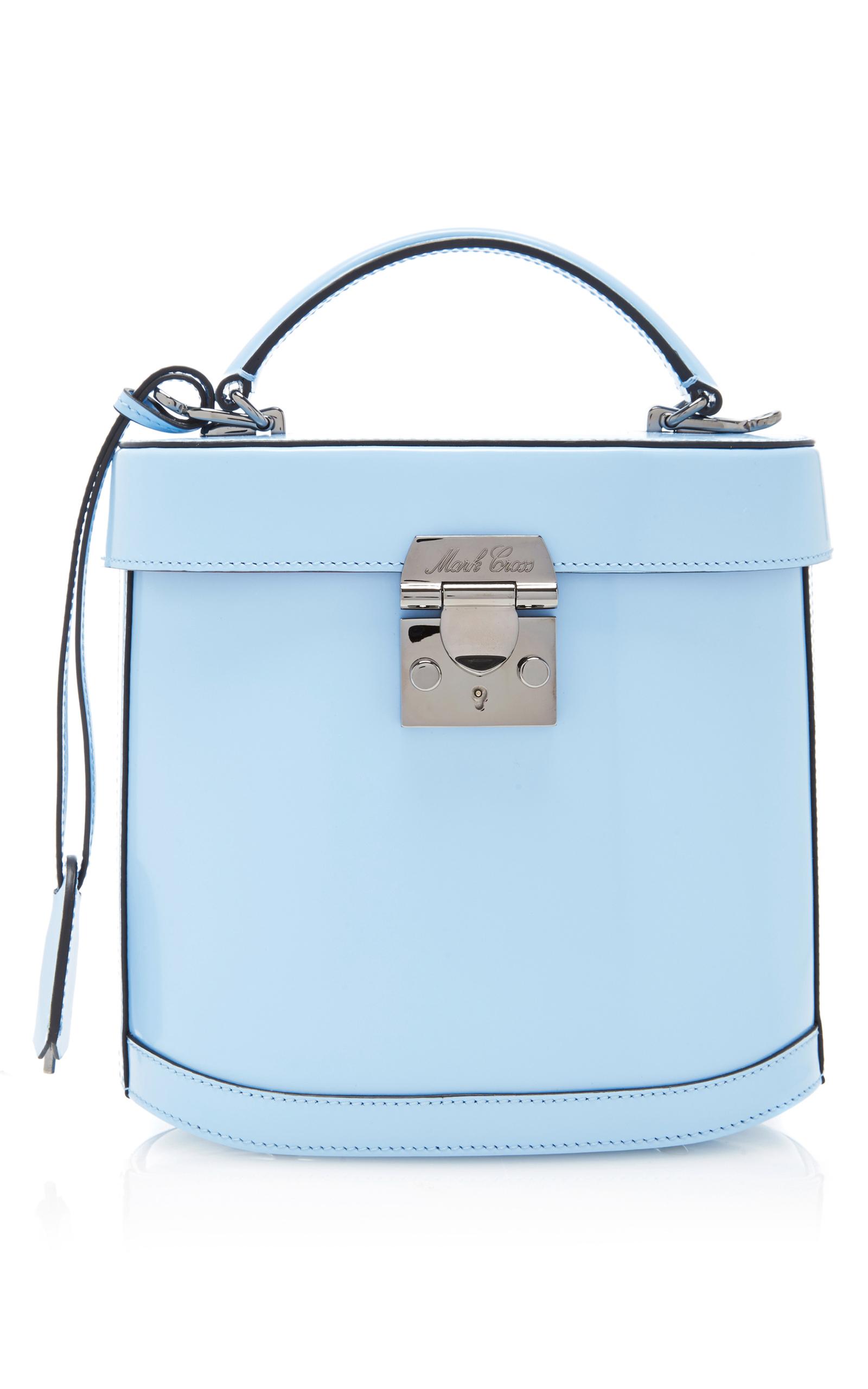 Mark Cross 'Benchley' Brush Off Leather Binocular Bag In Blue | ModeSens