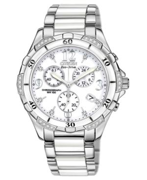 Citizen Women's Chronograph Eco-Drive Diamond Accent