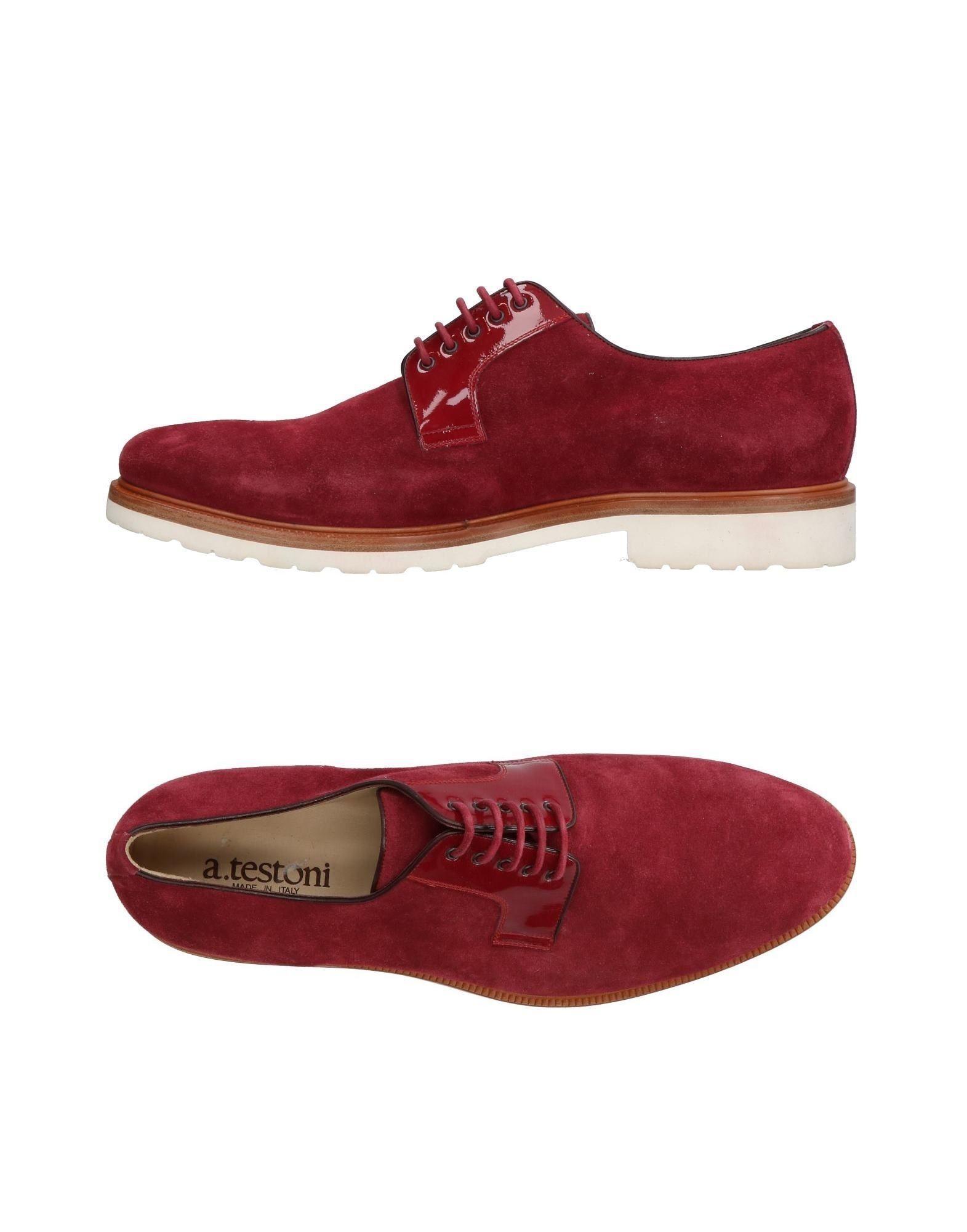 A.Testoni Laced Shoes In Garnet | ModeSens