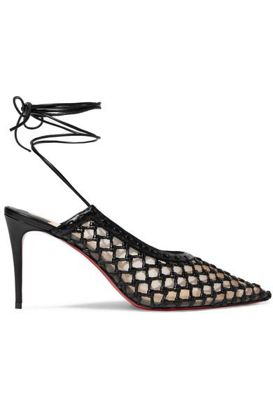 Christian Louboutin + Roland Mouret Cage And Curry 85 Mesh