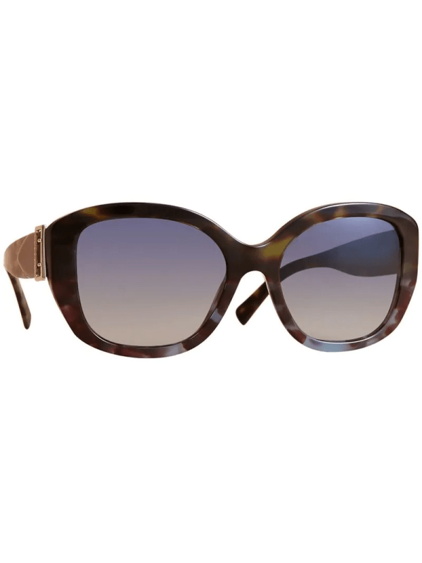 Burberry Eyewear Buckle Detail Oversize Square Frame Sunglasses - Green Modesens