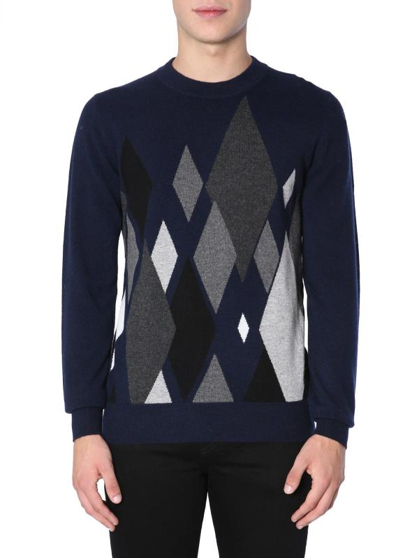 Ballantyne Cashmere Sweater In Blue Modesens