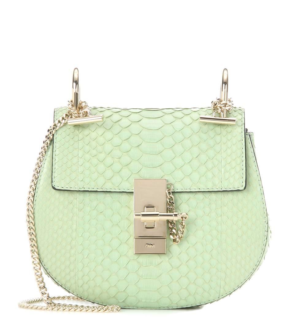 Chloé Drew Mini Snakeskin Shoulder Bag   ModeSens