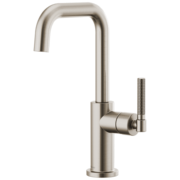 articulating kitchen faucet rustic island litze™ bar with square spout and knurled handle ...