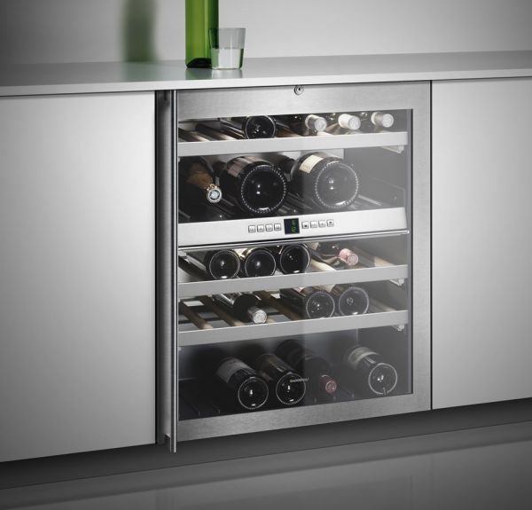 stainless steel restaurant kitchen cabinets area rugs for hardwood floors gaggenau wine column rw404761 - modlar.com