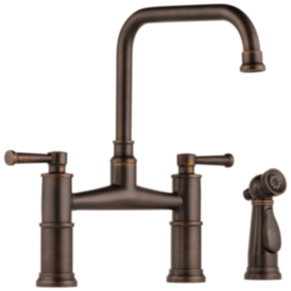 articulating kitchen faucet single bowl stainless sink artesso® bridge with side sprayer 62525lf - modlar.com