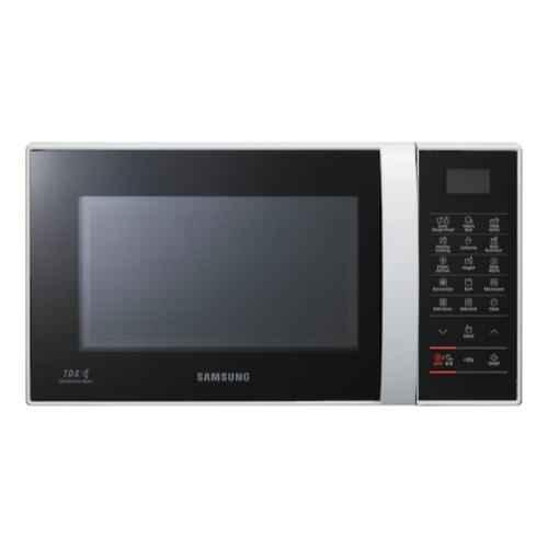 samsung 21l 1200w black silver convection microwave oven ce76jd