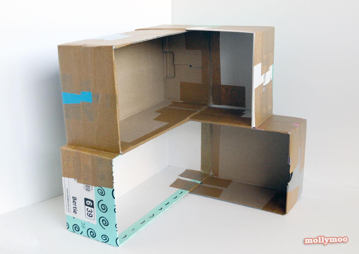MollyMooCrafts Cardboard Crafting DIY Dollhouse MollyMooCrafts