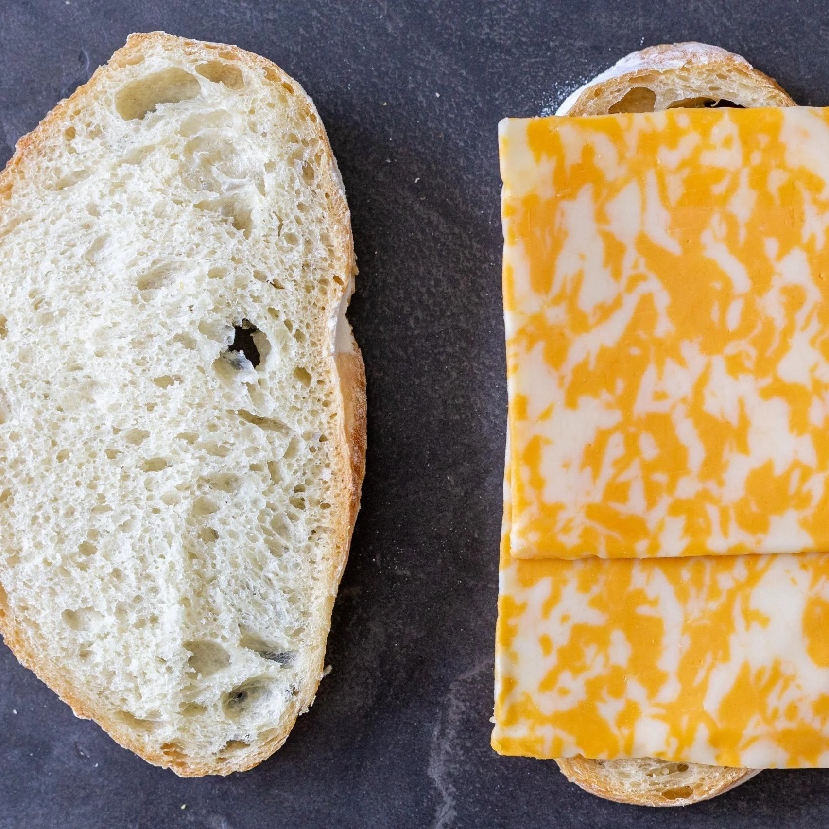bread with slices of cheese