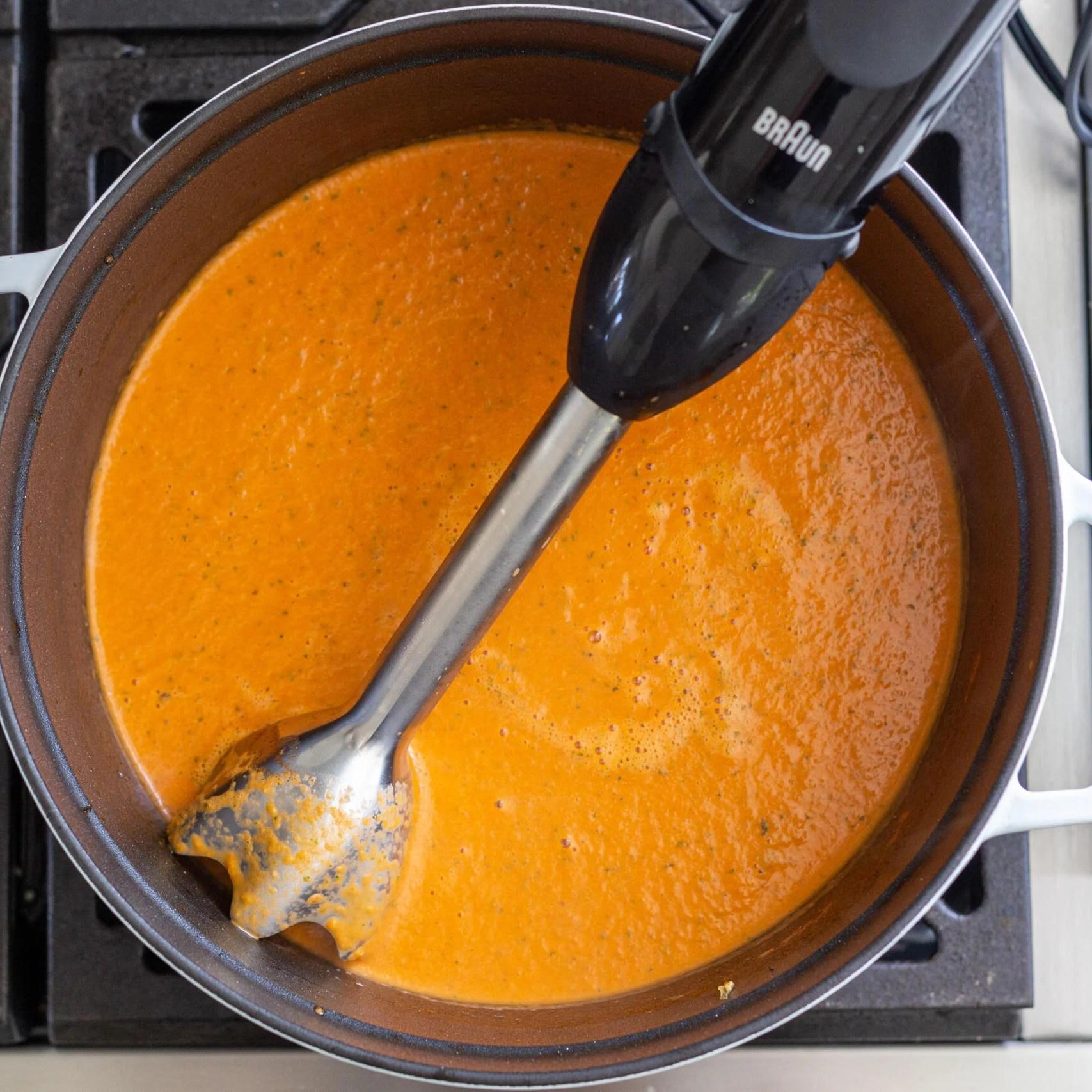 blended tomato basil soup