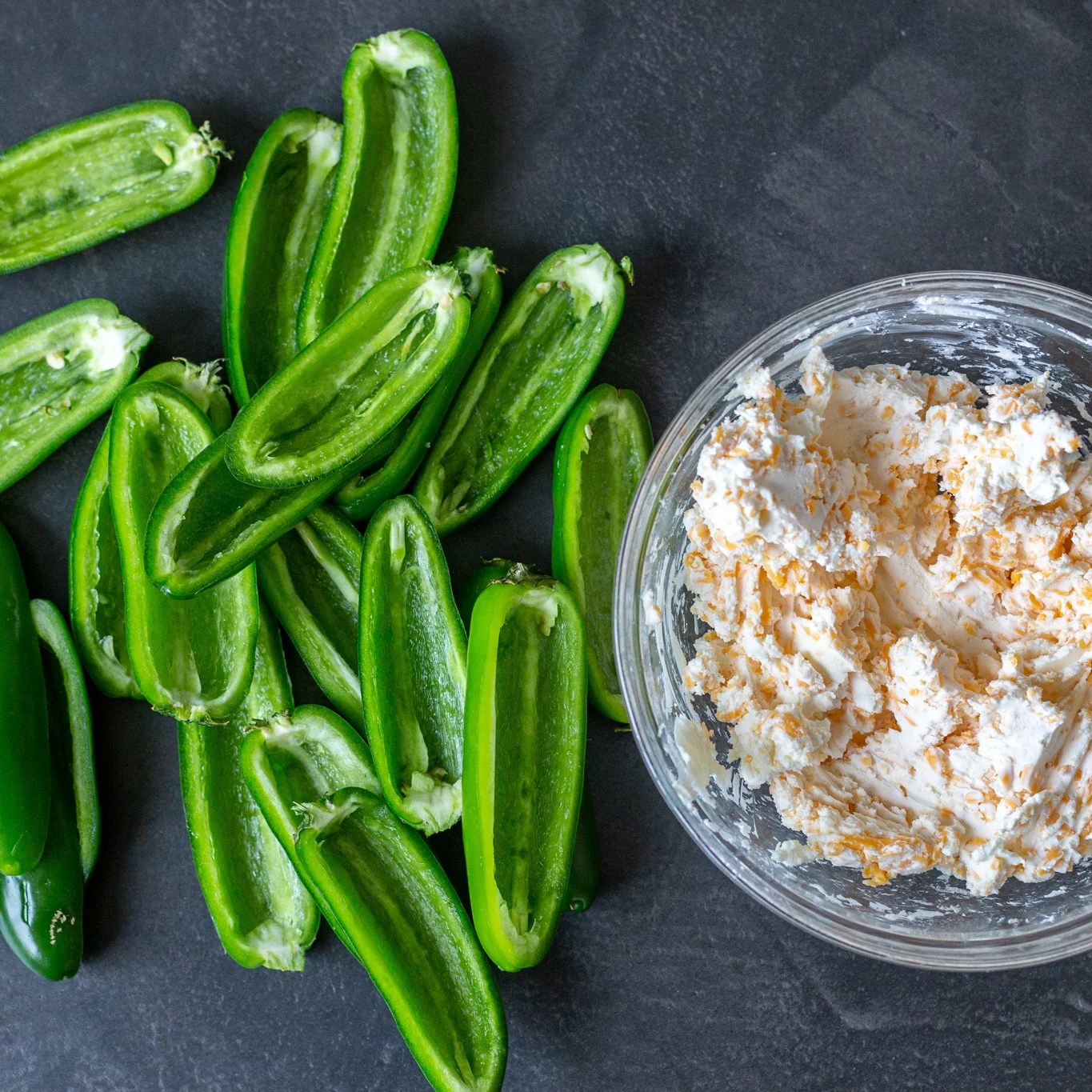 Jalapenos and cheese stuffing