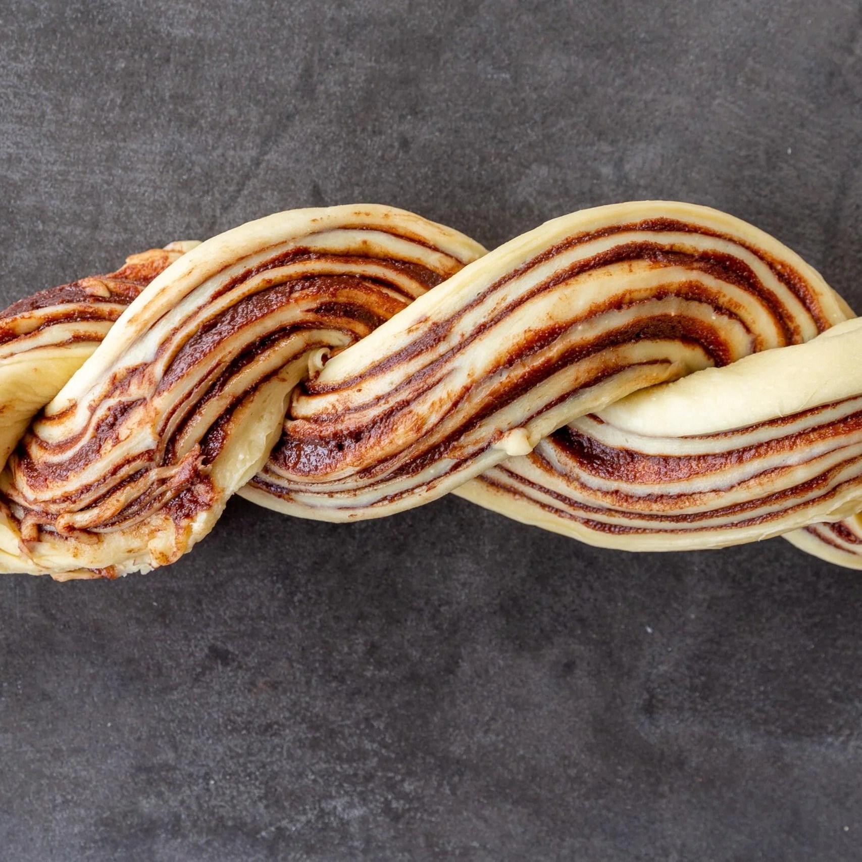 babka formed out of the dough