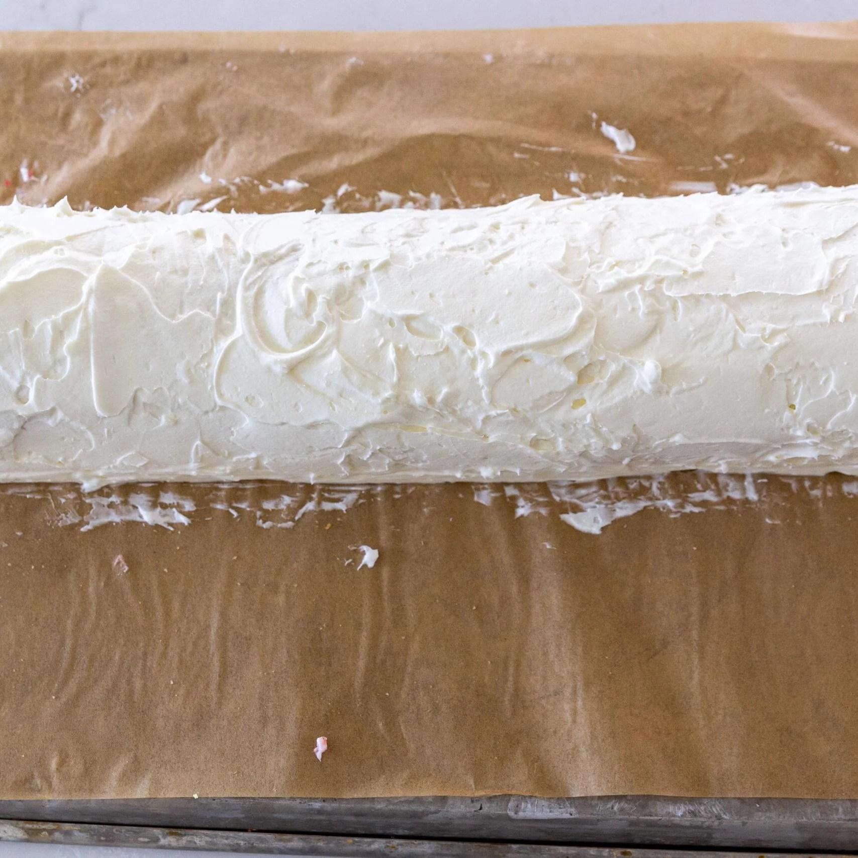 cream over sponge cake