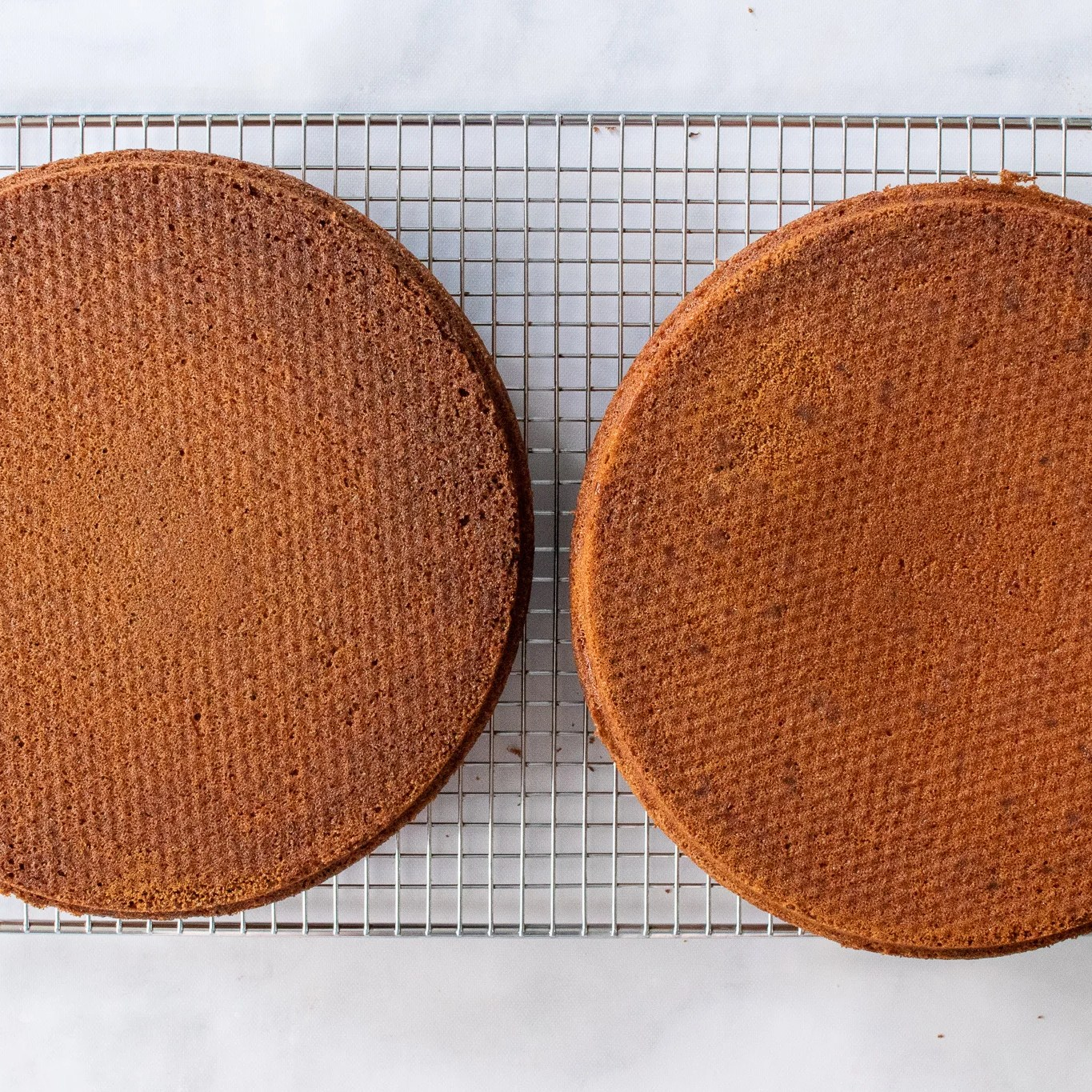 baked cake on a cooling rack