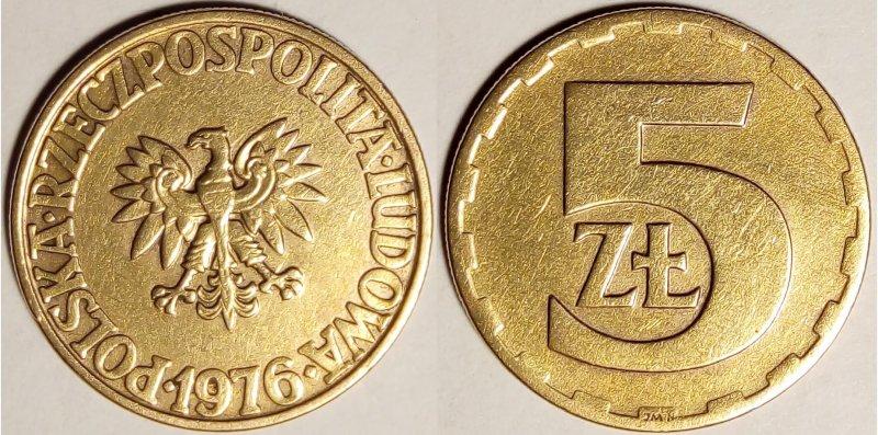 5 złotych PNR 1976 Po sprzątaniu