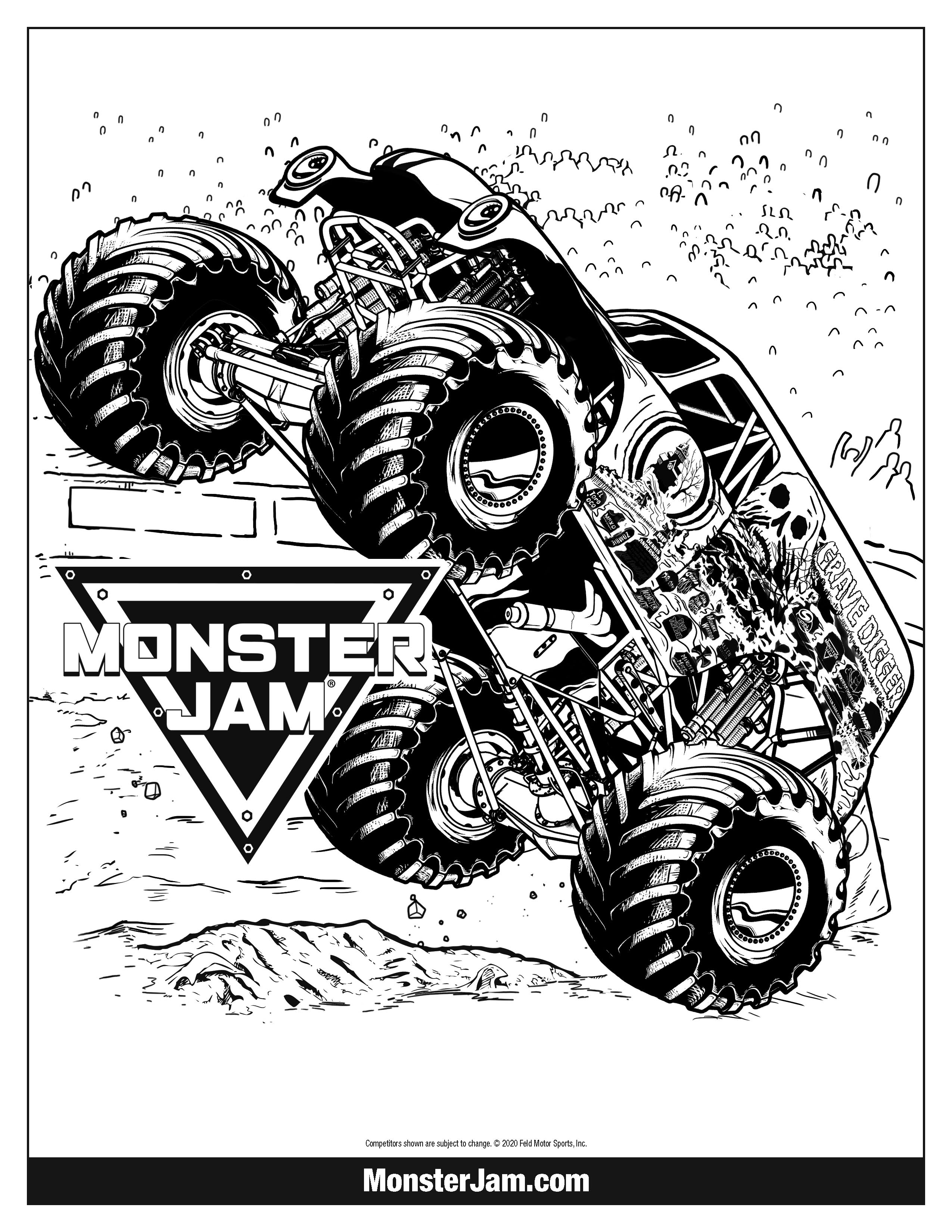 View 18 Zombie Monster Jam Monster Truck Coloring Pages