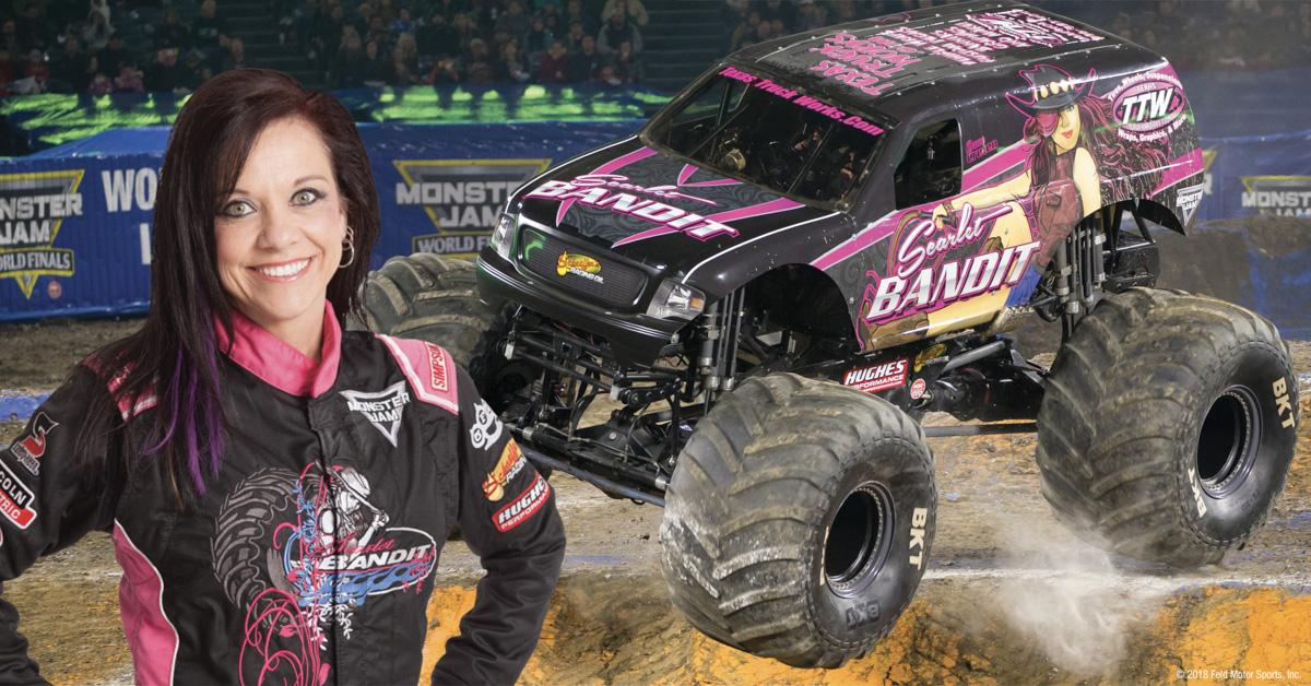 Girl With Blood Wallpaper Dawn Creten Monster Jam Driver Monster Jam