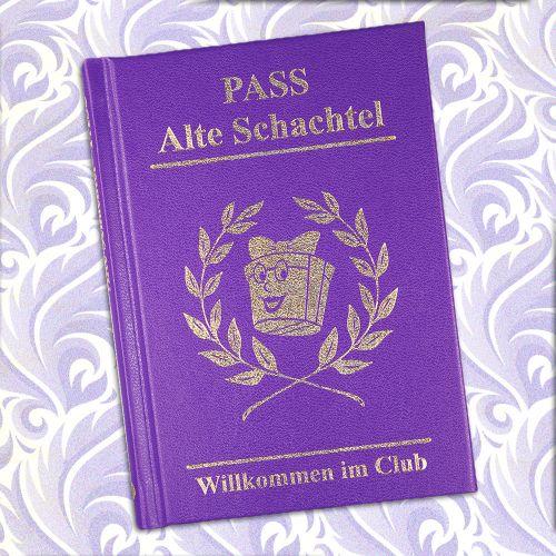Clubausweis der Alten Schachteln  lustiges Buch fr