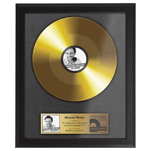 Goldene Schallplatte  personalisiertes Bild