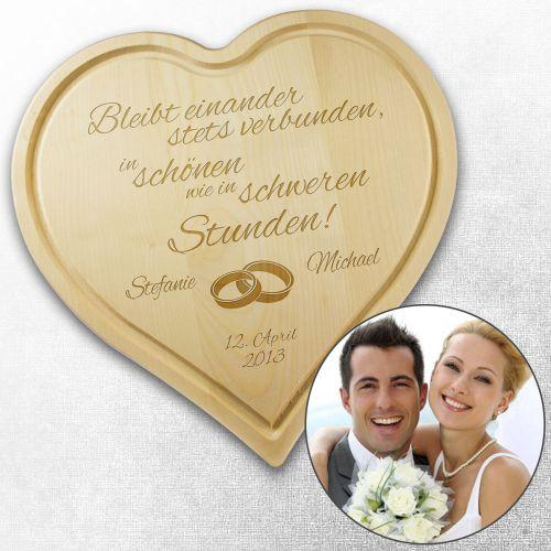 Graviertes Brett  Herz zur Hochzeit ist individuell