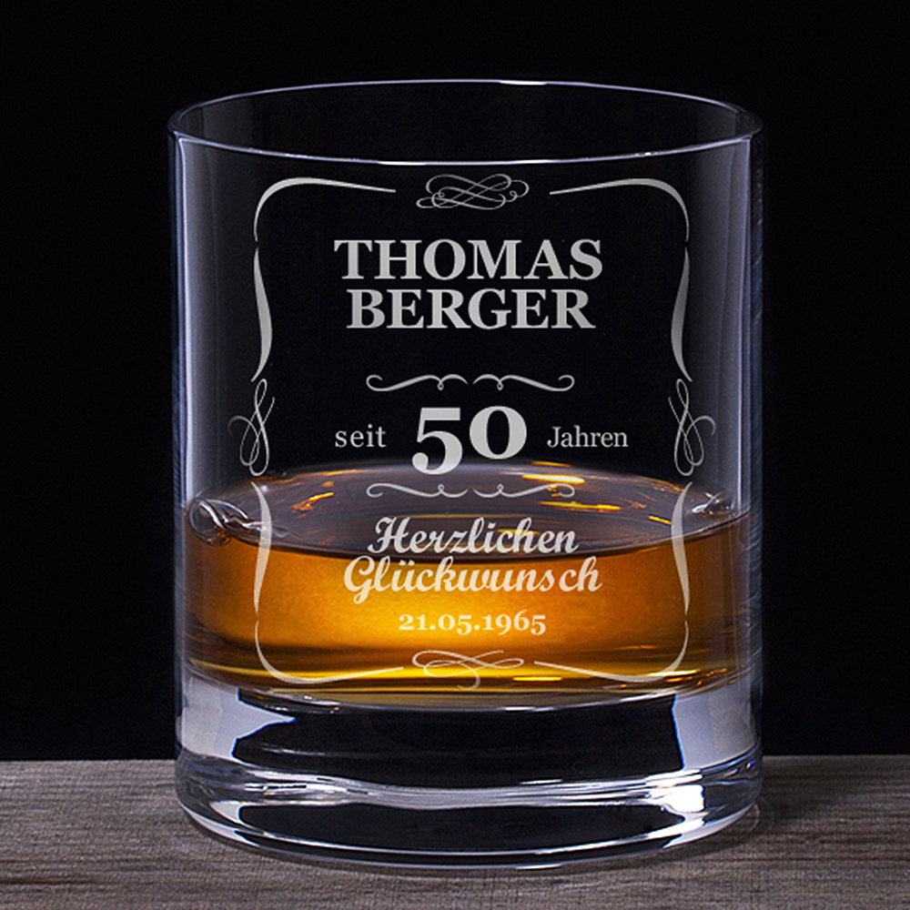 Whiskyglas 50 Geburtstag  klassisch Whiskyglas 50 Geburtstag  klassisch
