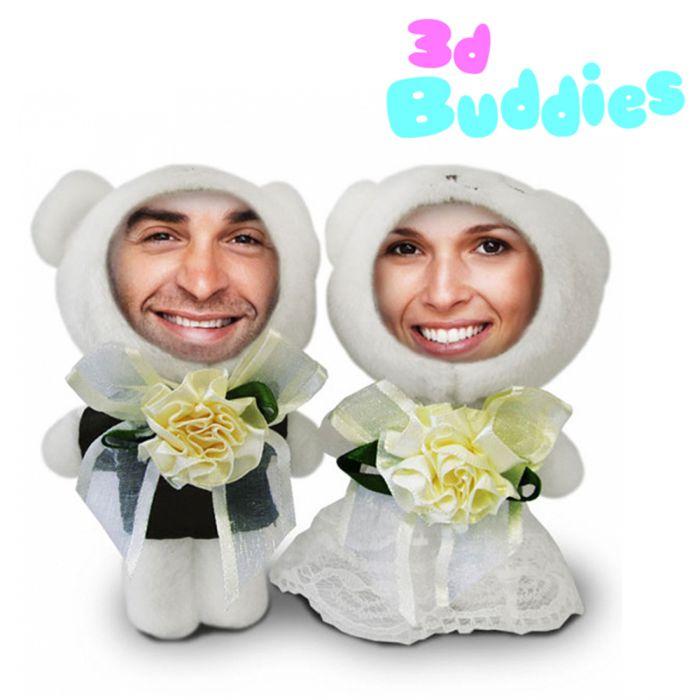 3D FotoPuppen Hochzeitspaar  Fotogeschenk zur Hochzeit