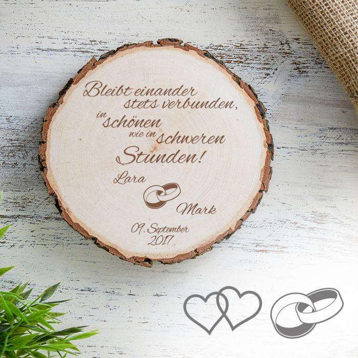 Individuelle Baumscheibe zur Hochzeit  Bleibt verbunden