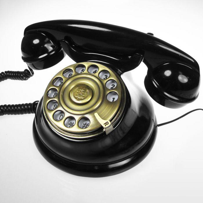 Retro Telefon  klassisches Telefonieren im edlen Design