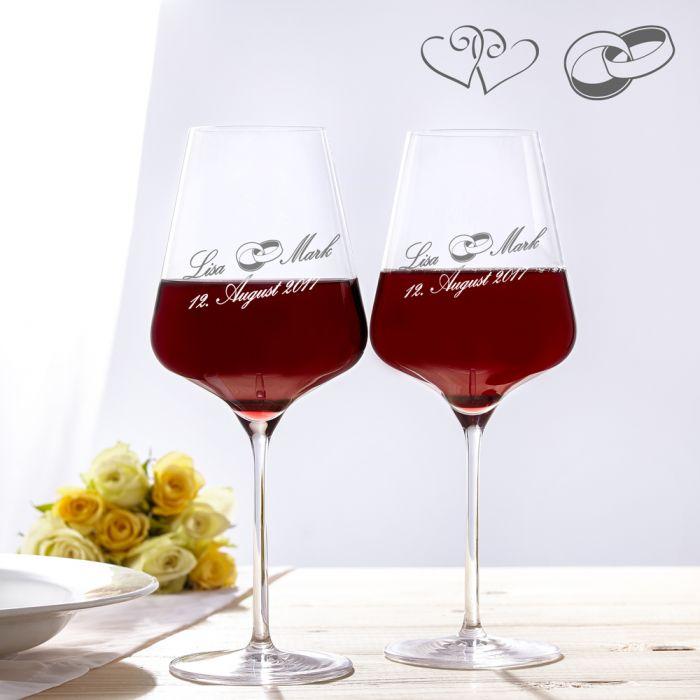 Weinglser zur Hochzeit  Personalisierte Glser fr