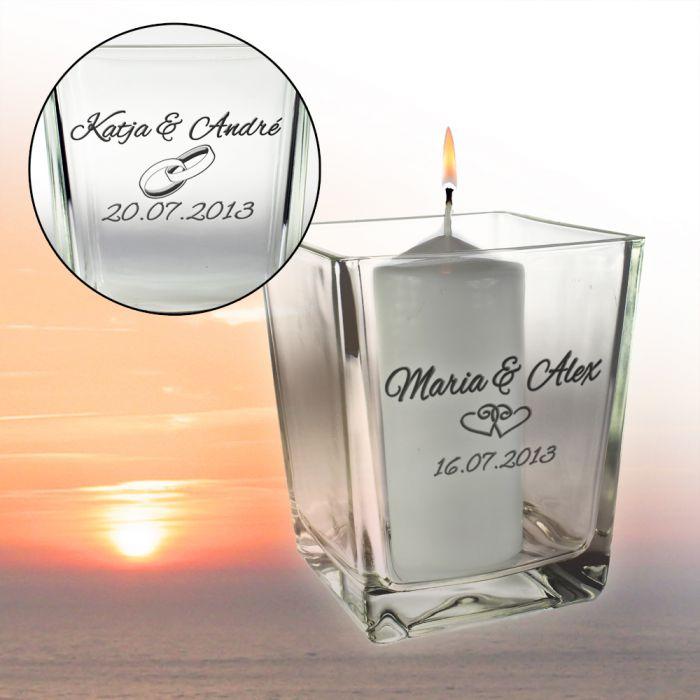 Windlicht zur Hochzeit  Hlt das Feuer der Liebe am lodern