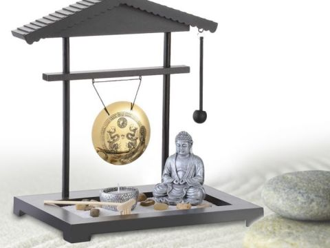 zen garten deko mini zen garten - gong