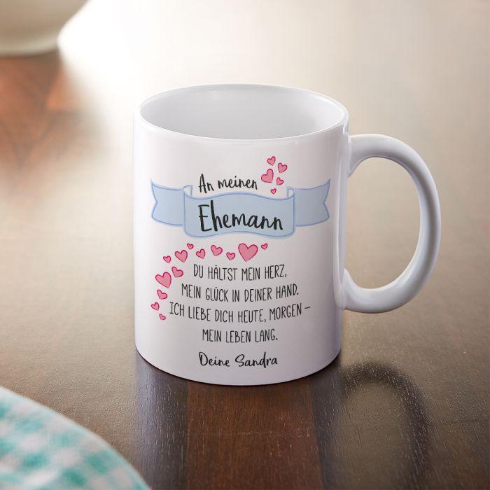 Personalisierte Tasse  Liebesgedicht Ehemann mit Widmung