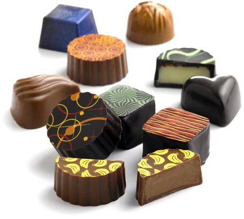 decorated chocolates