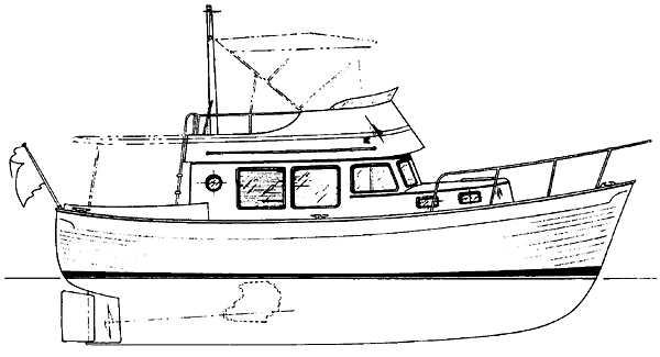 1976 Used Willard Marine 30 Trawler Boat For Sale
